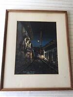 "E. Aguirre Diaz Original Watercolor Calle ""La Ronda"", Framed, 9 3/4"" x 12 1/2"""