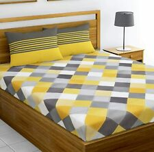 144 TC 100% Cotton Double Bedsheet with 2 Pillow