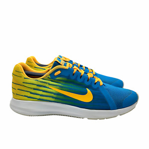 Nike Downshifter 8 Shoes Running Sneakers AT2965-400 Blue/Yellow 6.5Y or 8 Wmns