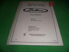 Drawer 16 Brillion Pulverizer Pp 6 Pp 7 Pp 8 Oper Manual Repair Parts Catalog