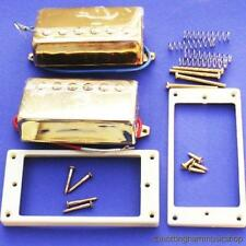 GOLD HUMBUCKER PICKUPS+RINGS+SCREWS ELECTRIC GUITAR LP
