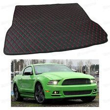 PU Leather Car Trunk Mat Cargo Pad Carpet for Ford Mustang 2013 14 15 16 2017