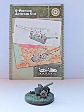 6-Pounder antitanque pistola, Axis & Allies-Base Set, 7/48 (07), C/W tarjeta