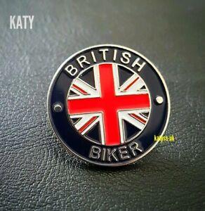 British Biker Motorbike Motorcycle Bike Badge Vintage Pin Enamel Brooch Broach
