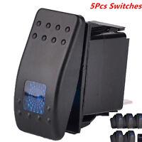 Waterproof 12V 20A Bar Rocker Toggle Switch LED Light for Car Boat 5Pcs 4Pin New