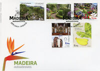 Portugal 2018 FDC Madeira 5v S/A Set Fruits Flowers Plants Architecture Stamps