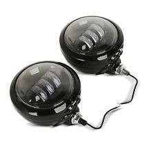 "DEL phares additionnels Set 4,5"" pour chopper cruiser Custombikes Noir"
