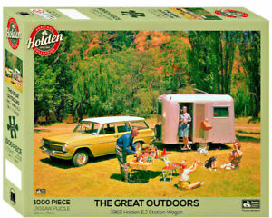 HOLDEN EJ STATION Caravan The Great Outdoors 1000 Pieces Jigsaw Puzzle 50 x 70cm