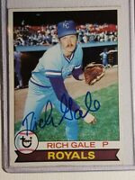 1979 Topps Rich Gale RC Autograph Card Auto Royals Red Sox Reds Giants Signed