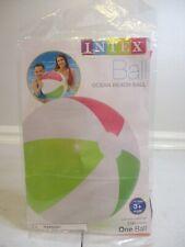 Intex - Ocean Beach Ball - Fluorescent Pink Yellow & Green - 20 Inch - 1 Ball