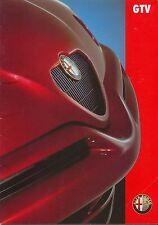 ALFA ROMEO GTV6 2.0 TWIN SPARK 1996-1998 ORIGINALE UK brochure di vendita No. ar552