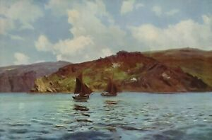 90+y Old Vintage HENRY MOORE Art Print CATSPAWS OFF THE LAND Seascape 12x8 Print