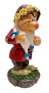"""GRUMPY Snow White & Seven Dwarfs Disney  NEW Garden Statue Figurine 7.5"""" Tall"""
