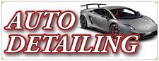 Auto Detailing Banner Car Wash Detail Shop Sign 18x48