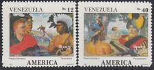 Upaep Venezuela 1540/41 1991 Terepaima Rodriguz Suárez Paramaconi 1991 MNH