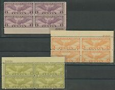 #C16-C17; #C19 (3) DIFFERENT PLATE # BLKS/4 F-VF OG NH CV $158 BT9487