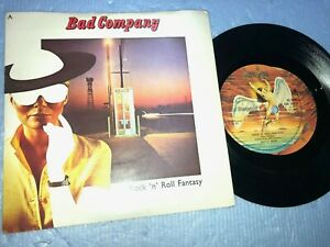 """BAD COMPANY ''ROCK'N'ROLL FANTASY'' PICTURE SLEEVE 7"""" RECORD 1979"""