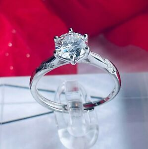 Certified 1.0 Ct. Moissanite Eternity Adjustable Size 6-10 Ring + Free Gift