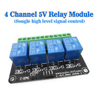 (USA) DC 5V 4 Channel Relays High Level Relay Control Panel Relay 5V