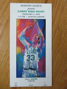 1993 LARRY BIRD TICKET Retirement NIGHT (Boston Garden) - LEROY NEIMAN - CELTICS