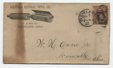 1887 Cleveland Ohio #210 cover western mineral wool co advertising [4117.408]