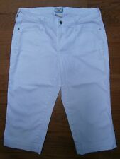 Womens Levis 545 Cropped Capri Jeans White 12 Mid rise Stretch