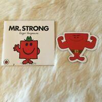 MR. STRONG by Roger Hargreaves MR MEN Kids School Reader BONUS Fridge Magnet