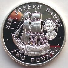 South Georgia 2001 Discover New World 2 Pounds Silver Coin,Proof