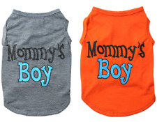 Small Dog Cat Cloth Mommy's Boy Letter Printing Vest For Puppy Spring And Summer