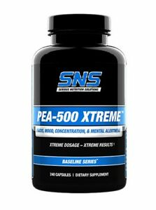 SNS PEA-500 Xtreme - 120-240 Caps Improved Concentration & Mental Alertness
