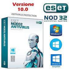 ANTIVIRUS ESET NOD 32 - 1PC / 1 ANNI.Licenza Originale / CON DURATA VERA