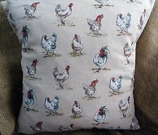 """New Countryside Animals 'Vintage Chickens' Print Cushion Cover 16""""x16"""""""