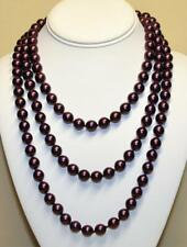 """JOAN RIVERS GOLD P HAND KNOTTED 10mm CRANBERRY CZECH GLASS BEAD 60"""" NECKLACE NEW"""