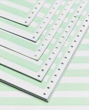 "Alliance Continuous Paper 14-7/8x11"" 1/2""Green Bar 1 Pt 20lb 2700/Ctn 50Ctns/PLT"