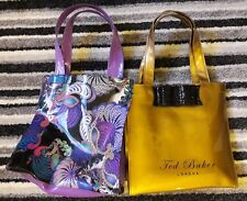 TED BAKER SMALL BAGS GOLD & PURPLE PAISLEY PATTERN GOOD CONDITION FREE P&P