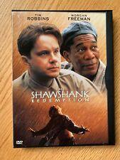 """""""The Shawshank Redemption"""" Dvd- Large Print Label-Starring Morgan Freeman"""