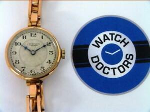 10% SALE LdsVintage 9ct Gold J W Benson Watch Circa 1920 (575 OWR)
