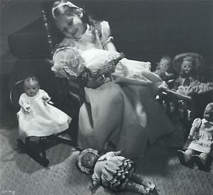 Ilse Bing -German/American Photographer -Seated Girl w/ Dolls -circa 1950
