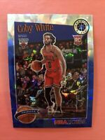 2019-20 NBA Hoops Premium Stock💥Blue Cracked Ice💥Coby White Tribute #295 RC