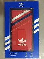 ADIDAS Genuine Booklet Case For Iphone 5/5s (Red with White/Blue/Red Stripes)