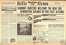 1958 2 Page Print Ad of Remington Rifle News 740 Woodmaster & 760 Gamemaster