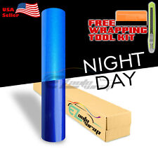 """*36""""x48"""" Reflective Blue Vinyl Wrap Sticker Decal Graphic Sign Car Adhesive Film"""