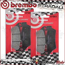 4 PLAQUETTES FREIN AVANT BREMBO CARBON CERAMIC 07001 GILERA NEXUS 500 2009