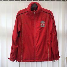 Official Liverpool FC Football Rain Jacket Hooded Windbreaker Men's Size S, Red