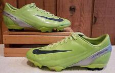 Nike Mercurial Velosi Fg Soccer Cleats Lime Green/White 317877 301 Men Sz 8.5 M