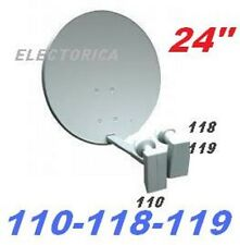 "24"" SATELLITE DISH NETWORK LNB 110 119 118 1000 500 FTA INDIAN ASIAN ANIK F3 HD"