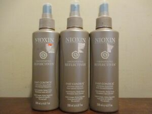 Lot of 3 Nioxin smoothing reflectives Fast Control Anti-Frizz Hair spray 6.8 Oz