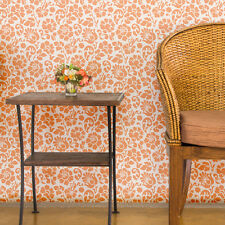 Floral Large Damask Allover Stencil Sheri for Wallpaper Look DIY Wall Decor