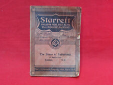 starrett 1938 catalogue for precision tools steel tapes dial indicators & h saws