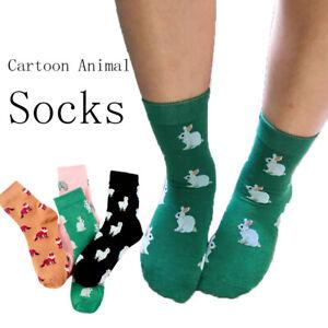 Lässige Happy Socks Tier Cartoon Elefant Kaninchen Schaf Baumwolle Short Tide